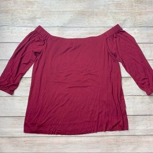 BAILEY 44 | burgundy off the shoulder top
